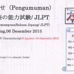 JLPT 2015 di TENSAI - Kursus Bahasa Jepang
