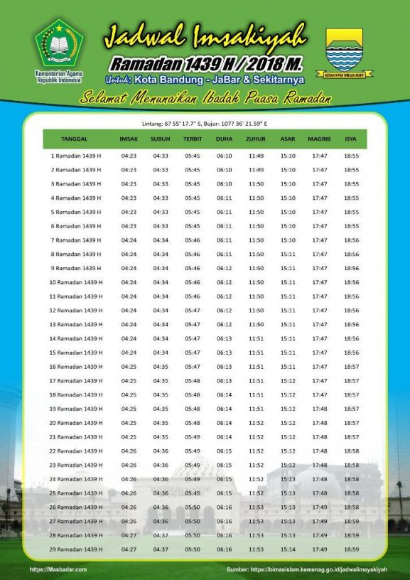 Free Download Jadwal Imsakiyah 1439 2018 Kota Kabupaten Propinsi