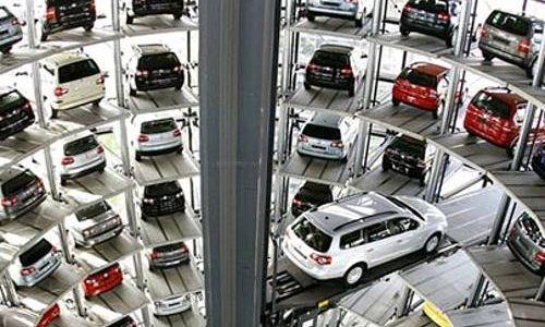 Sistem Parkir Rotary Otomatis Jepang