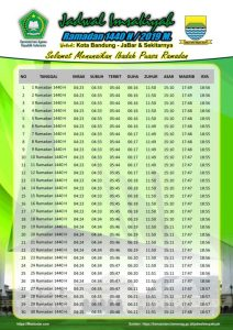 Imsakiyah Ramadhan 1440 Hijriyah Tahun 2019